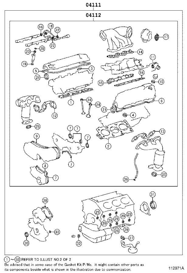 Lexus Rx 350 Engine Cylinder Head Gasket Set  Gasket Kit  Engine Valve Grind