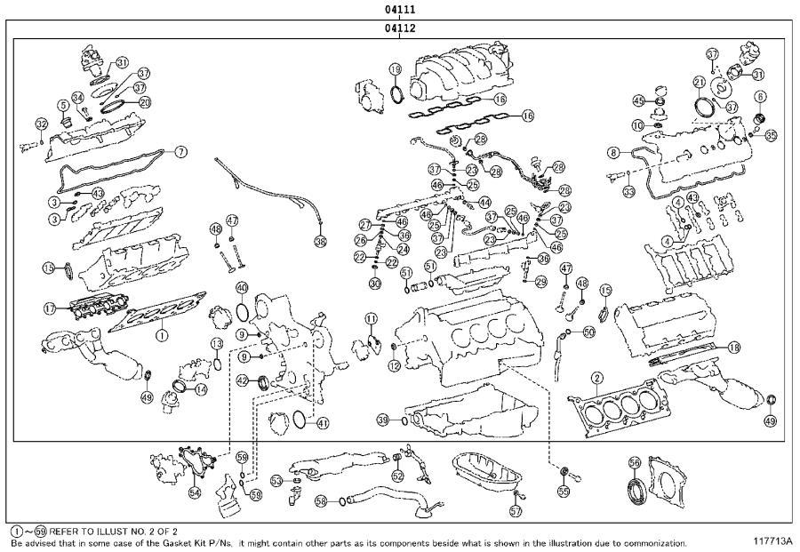 Lexus Ls 460 Gasket Kit  Engine Overhaul