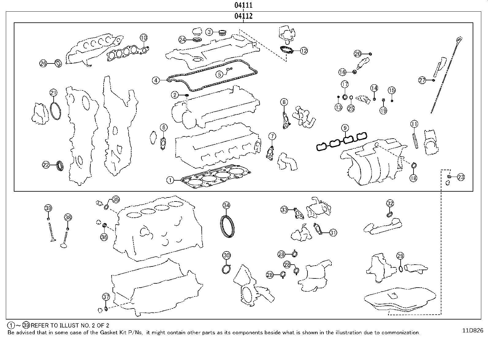 Lexus Es 350 Engine Cylinder Head Gasket Set  Gasket Kit  Engine Valve Grind