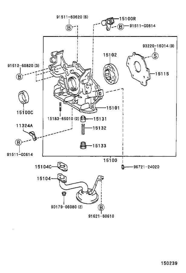 1995 Lexus Es 300 Engine Oil Pump  Pressure