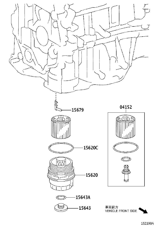 Lexus Nx 300h Clip  Oil Filter Bracket