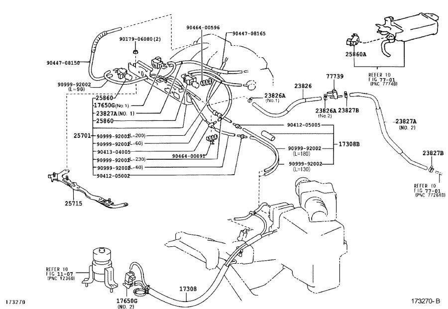 Lexus Es 330 Vacuum Hose  Hose  Vacuum  For Idle Up