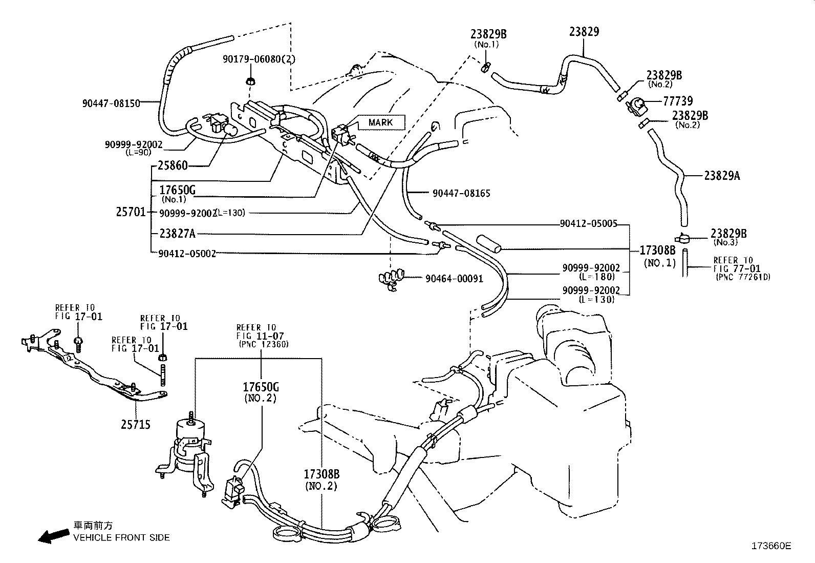 Lexus Rx 350 Clip For Fuel Vapor Feed Hose
