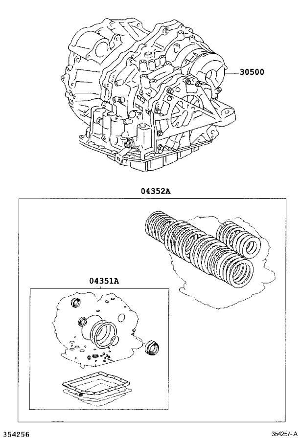 Lexus RX 330 Gasket kit, transaxle overhaul(atm ...