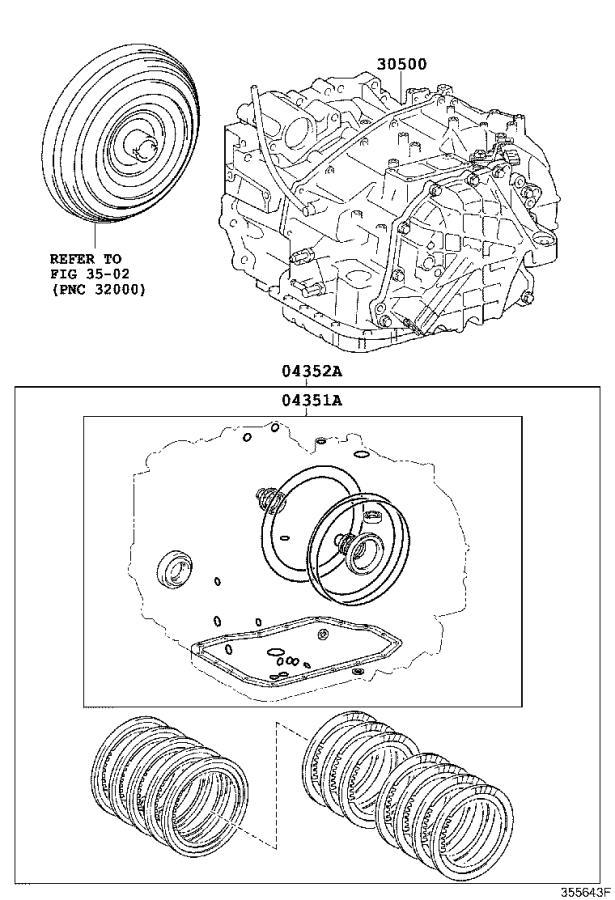 Lexus Rx 350 Gasket Kit  Automati  Transmission  Driveline