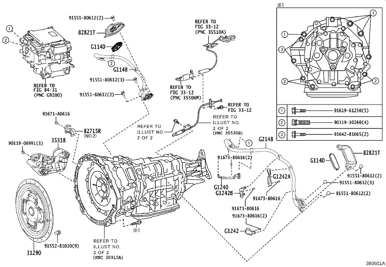 Lexus Ls 500h Bracket Assembly  Inverter Motor Cable
