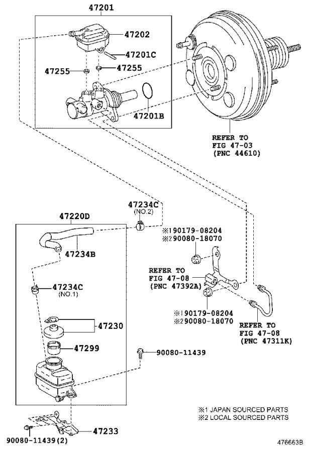 lexus rx 350 brake master cylinder reservoir cap