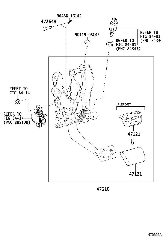 Lexus Nx 300h Pad  Brake Pedal  Suspension  Brakes