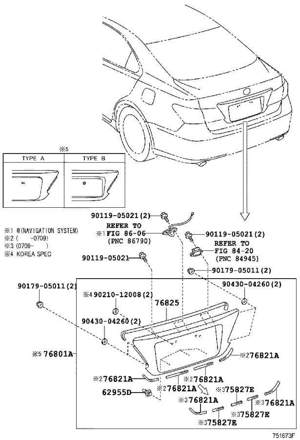 Lexus Es 350 Garnish Sub