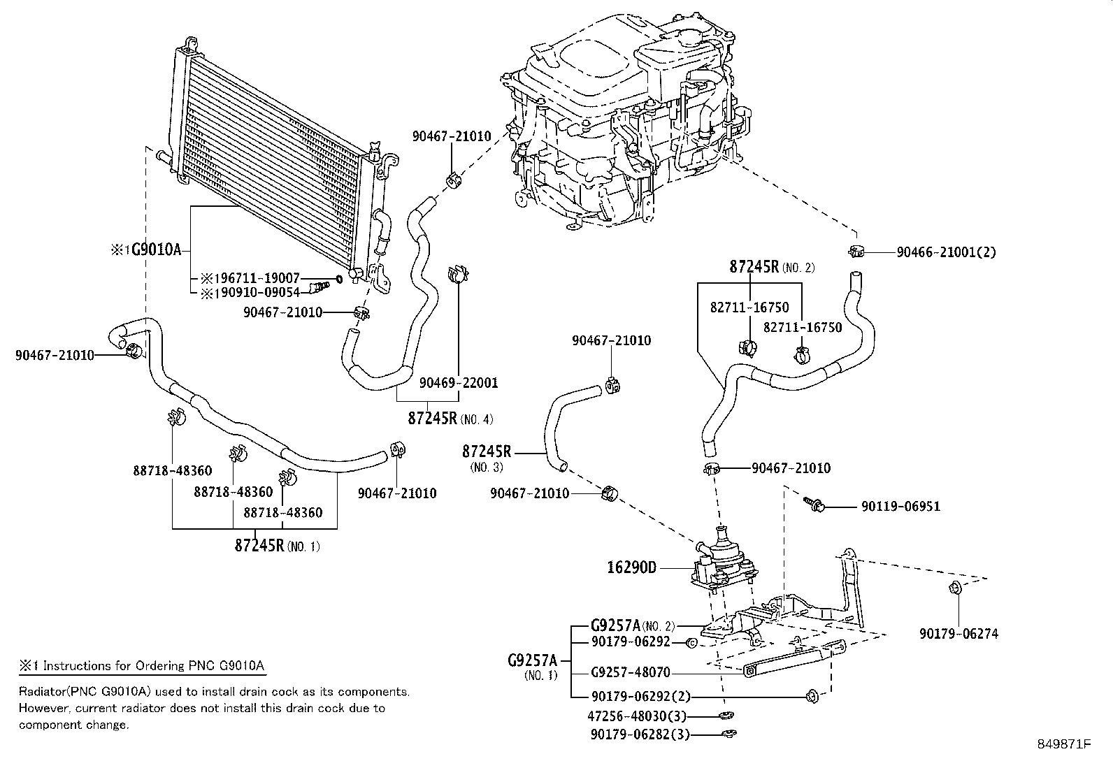 Lexus Rx 400h Hose  Water  Oil  Cooler  Electrical