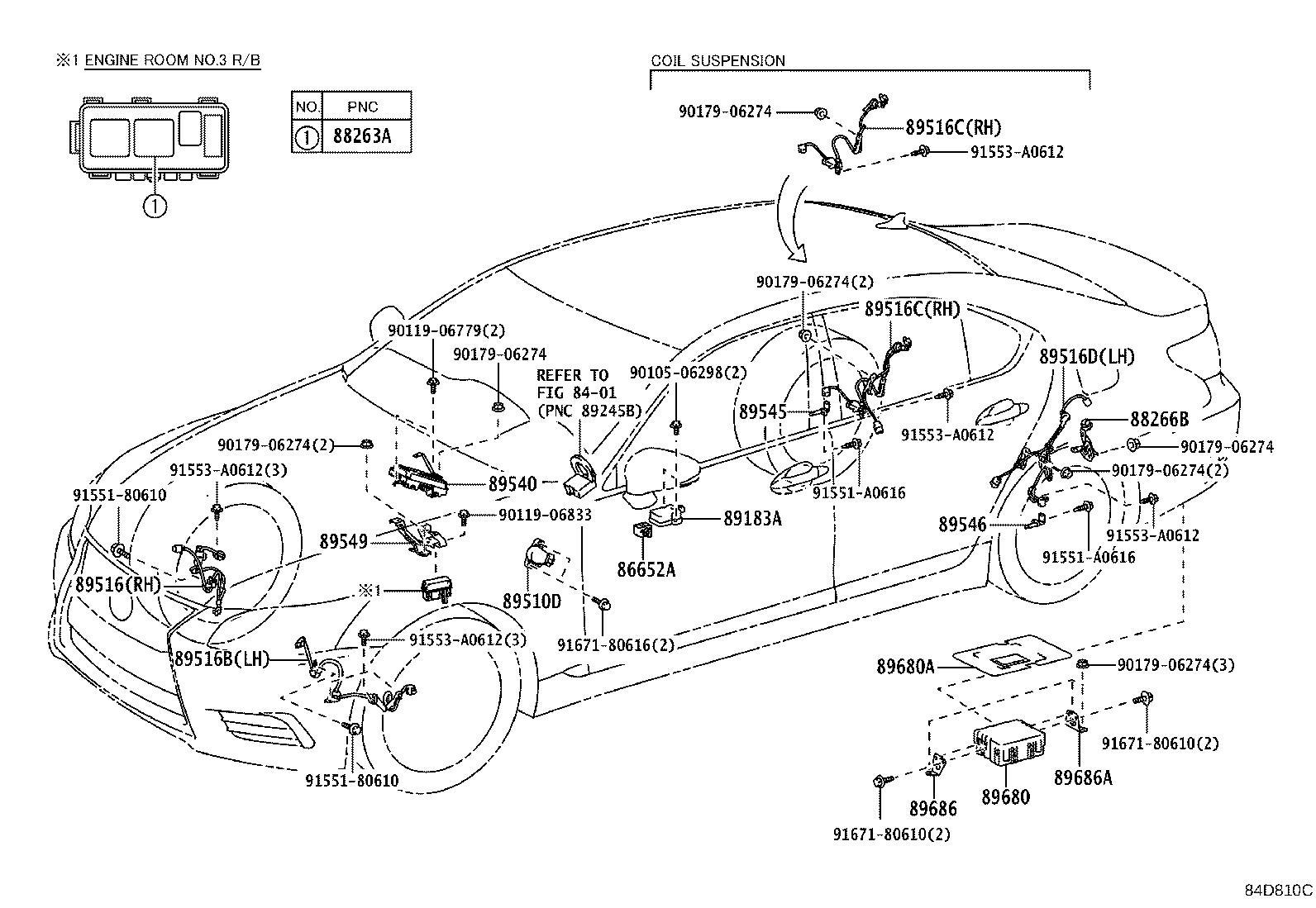Lexus Ls 460 Wire  Skid Control Sensor