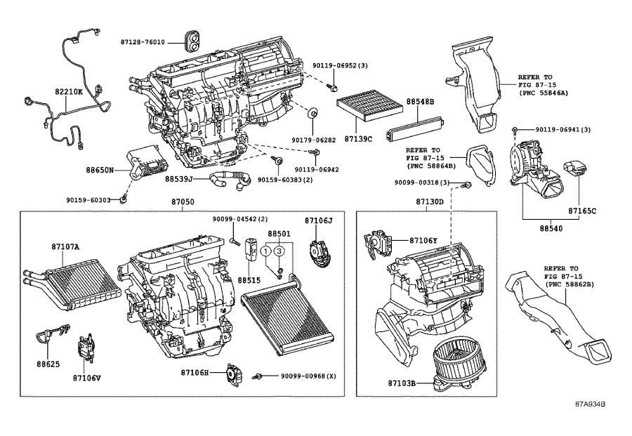 Lexus Hs 250h Hvac Blower Case  Lower