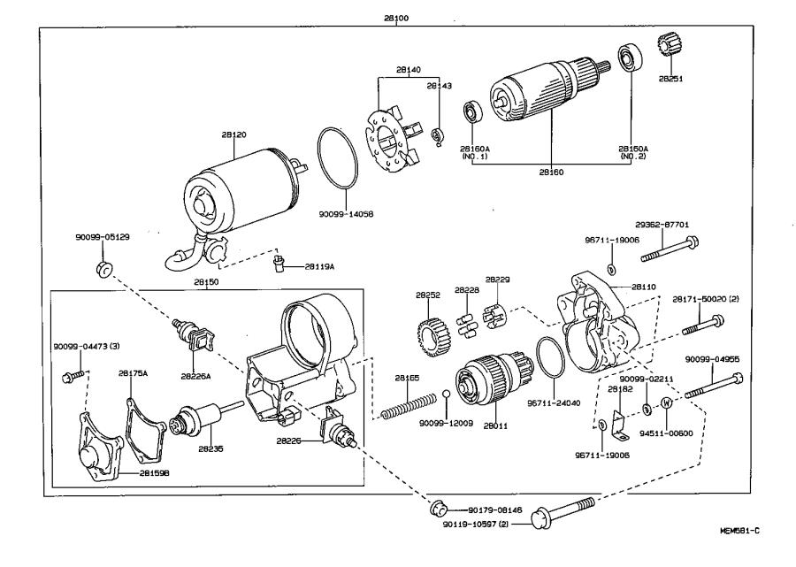 lexus ls 400 yoke assembly  starter  mtm
