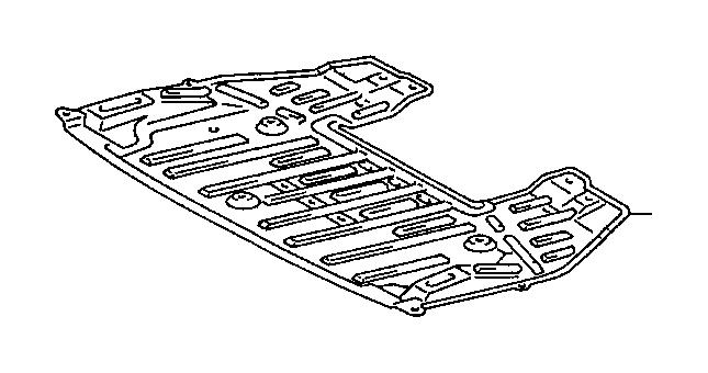lexus ls 400 cover  engine under  no  1  suspension  interior  crossmember  body