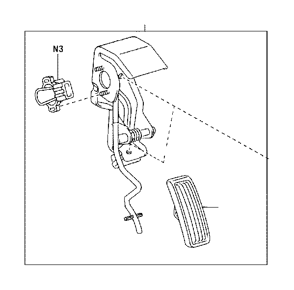 Lexus GS 350 Pedal, Accelerator. Body, Interior