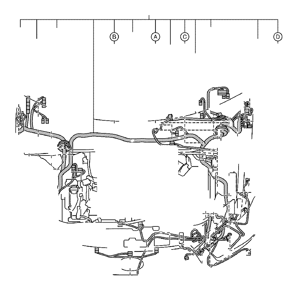 lexus sc 430 connector  wiring harness  engine  seat