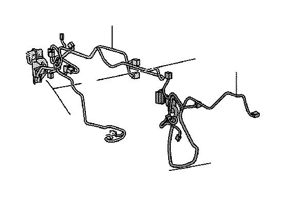 Lexus Is 250 Wire  Front Door  Right  Engine  Seat  Clamp