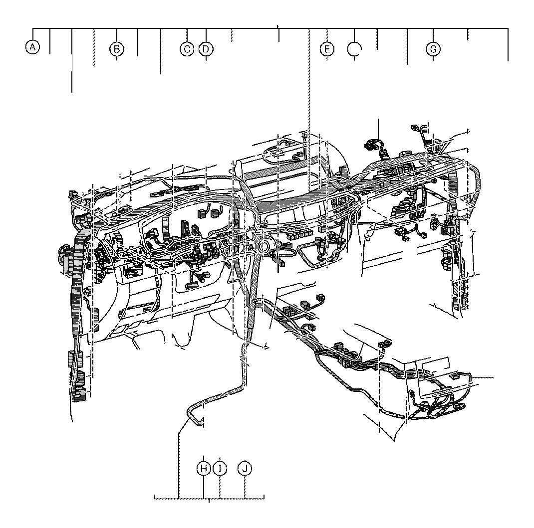 Lexus Lx 570 Wire  Console Box  Engine  Instrument  Room